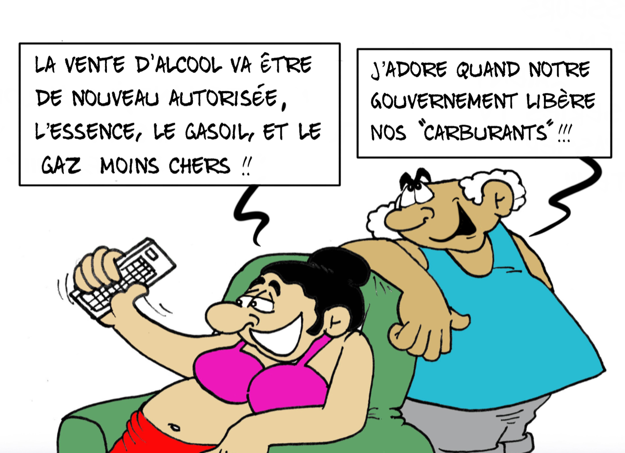 """""""Les carburants déconfinés"""", par Munoz"""