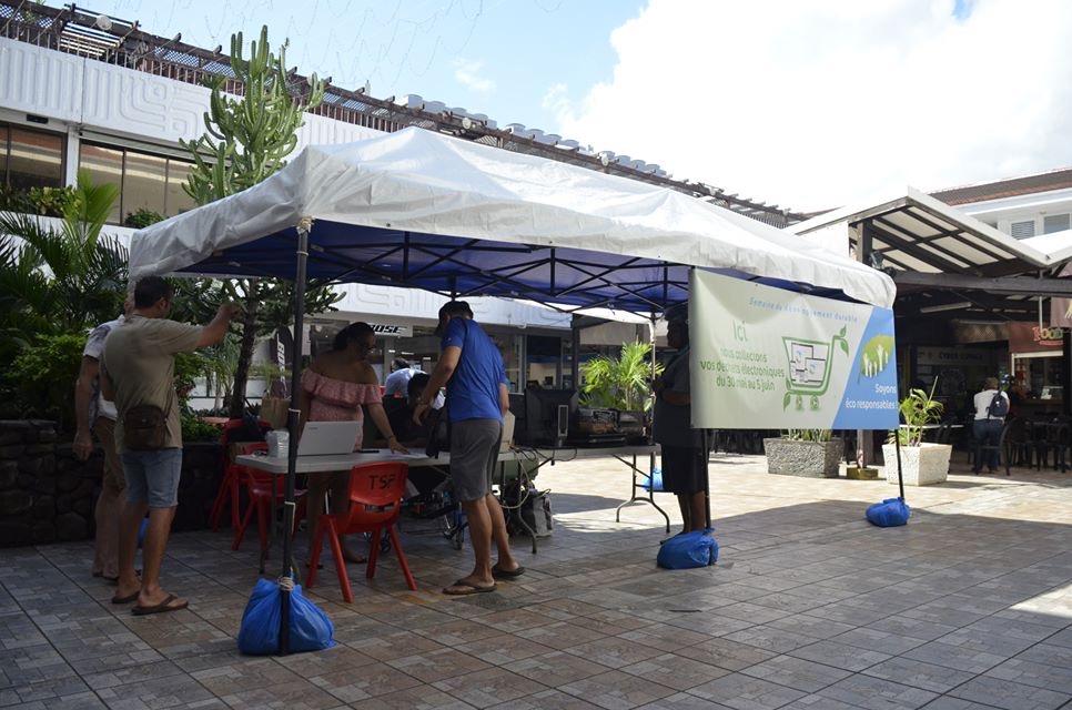 Une collecte de déchets électroniques au Centre Vaima