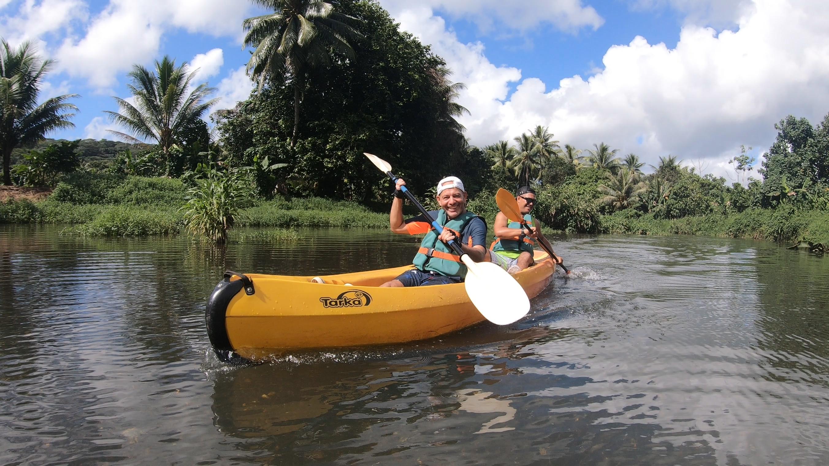 Sortie kayak sur la Faaroa