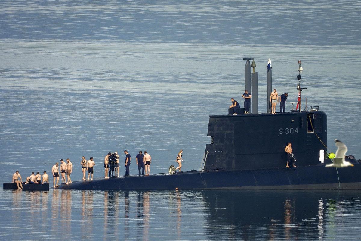 En Norvège, les sous-mariniers se jettent à l'eau