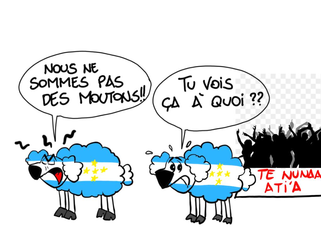 """We're not sheep"", par Munoz"