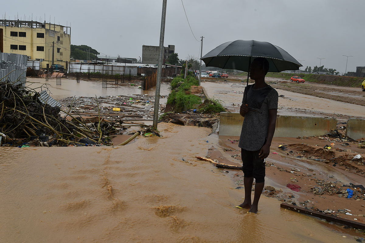 Pluies diluviennes et inondations à Abidjan, trois morts