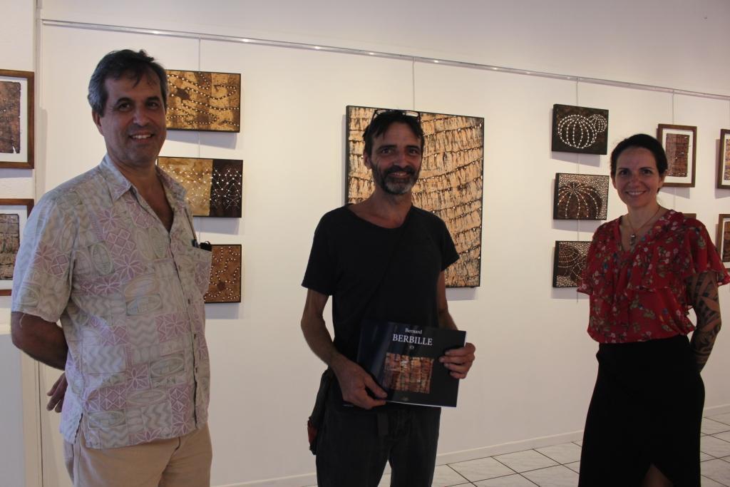 Jean-Luc Bodinier, Bernard Berbille et Vaiana de la galerie Winkler.
