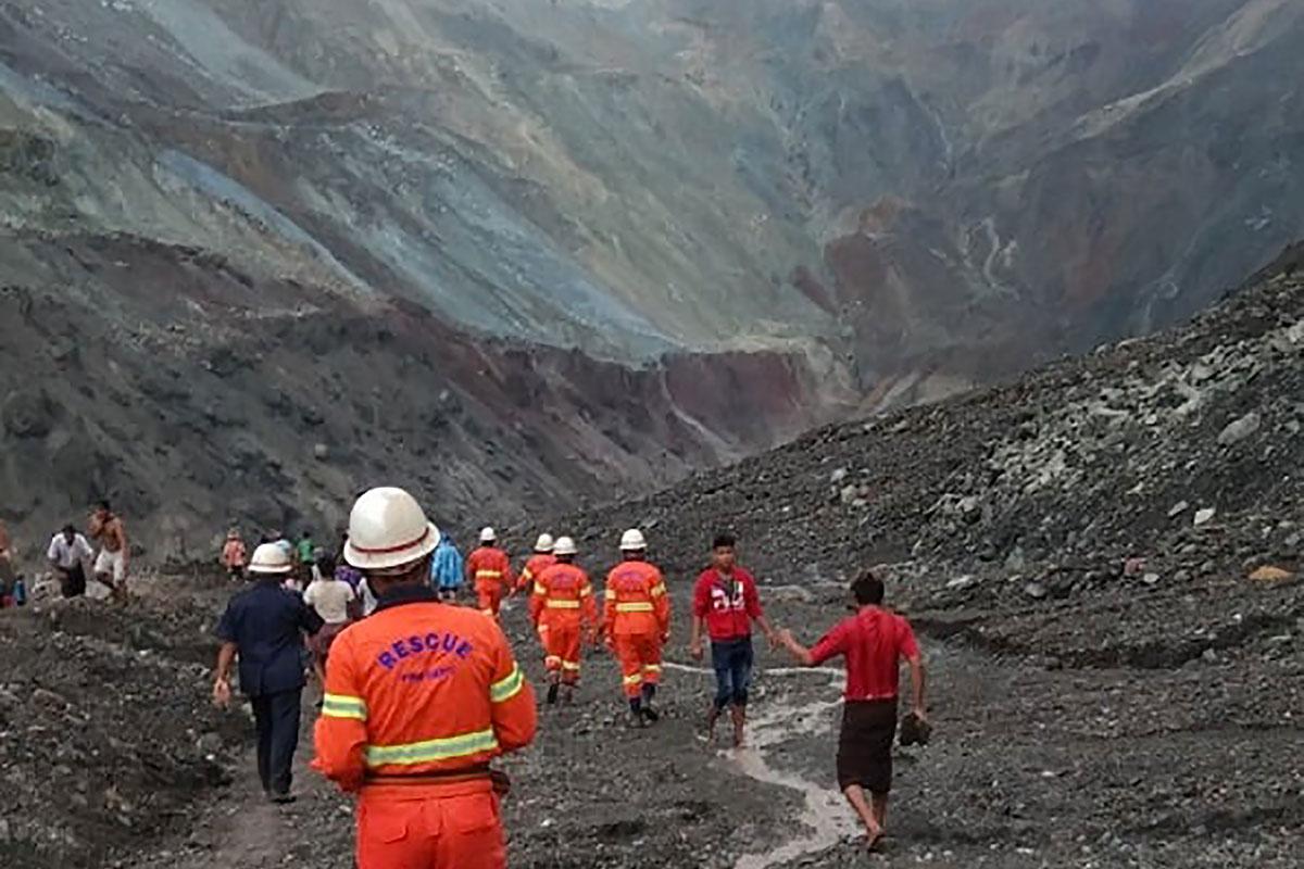 Birmanie: plus de 160 morts dans un glissement de terrain dans des mines de jade