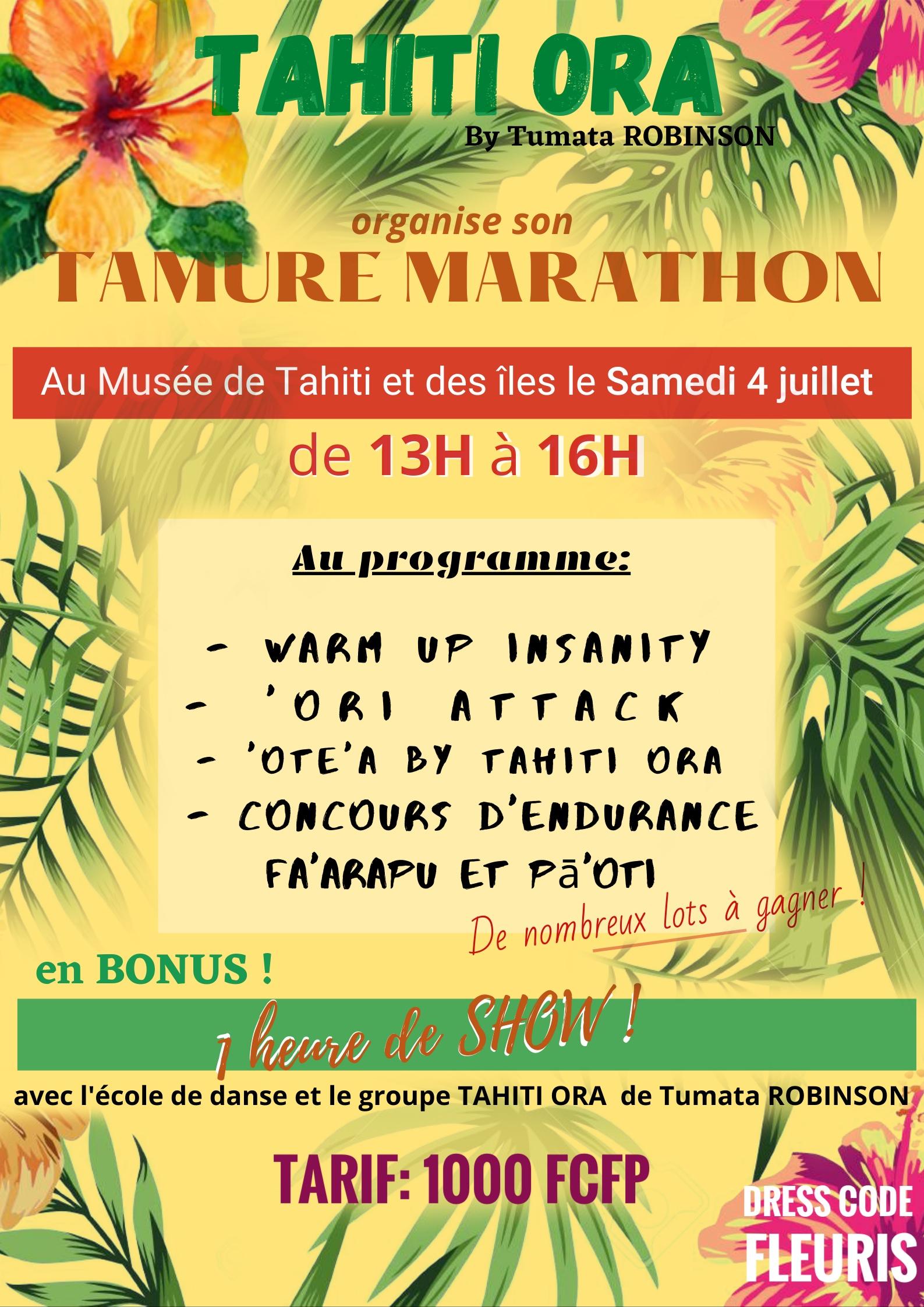 Tahiti Ora fait son show au tamure marathon qu'il organise