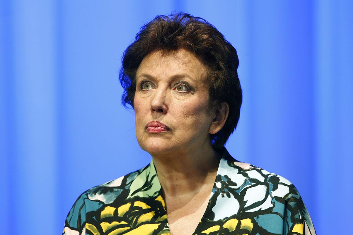 Roselyne Bachelot, ex-ministre de droite devenue chroniqueuse média