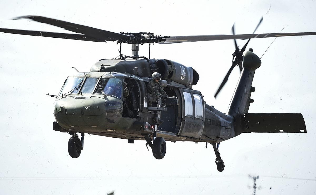 Colombie: 11 disparus, six blessés dans la chute d'un hélicoptère militaire