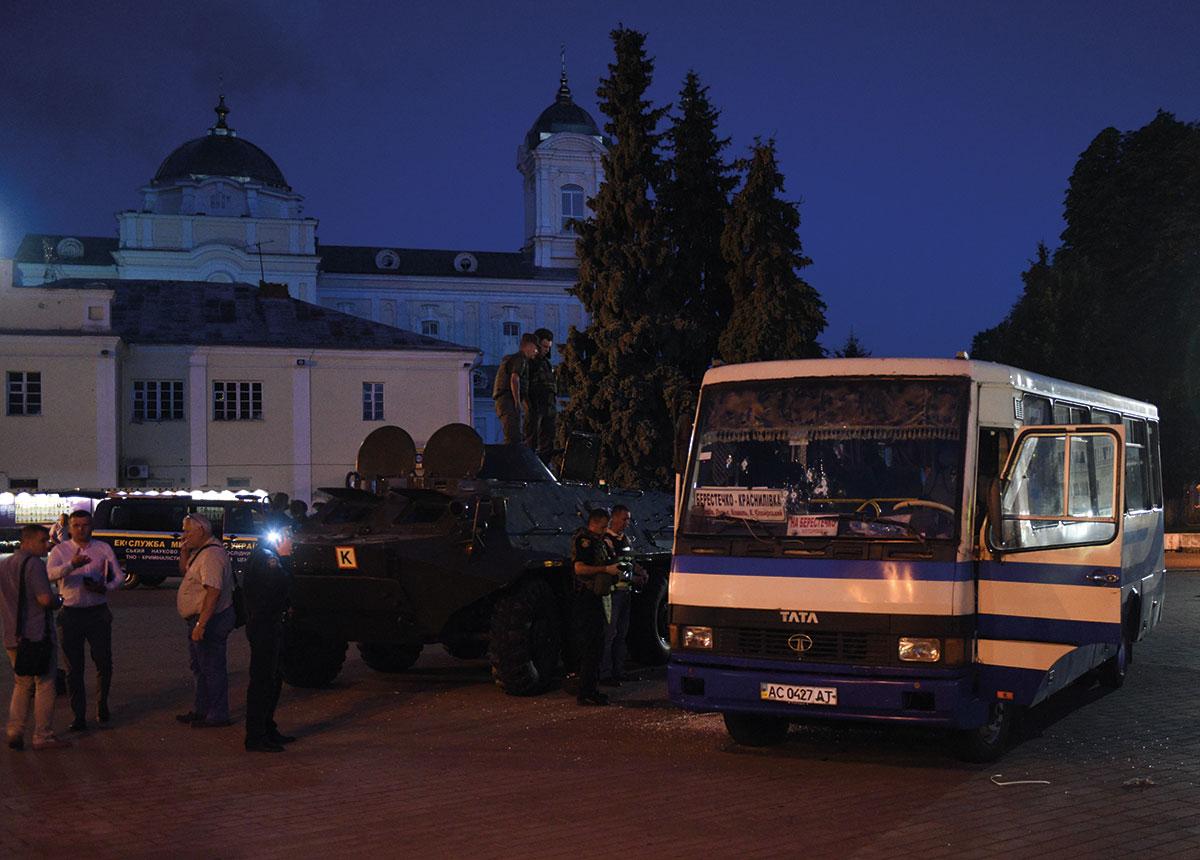 Prise d'otages dans un bus en Ukraine: tous les otages libérés