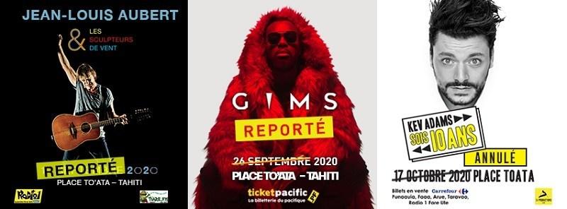 Les concerts de Jean-Louis Aubert et Gims reportés, Kev Adams annulé
