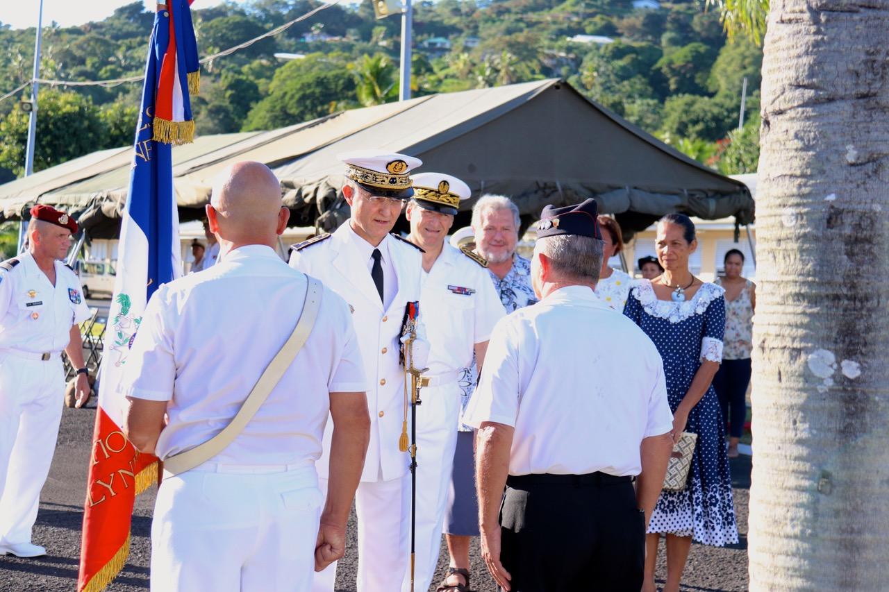 Le nouveau contre-amiral prend ses fonctions à Arue