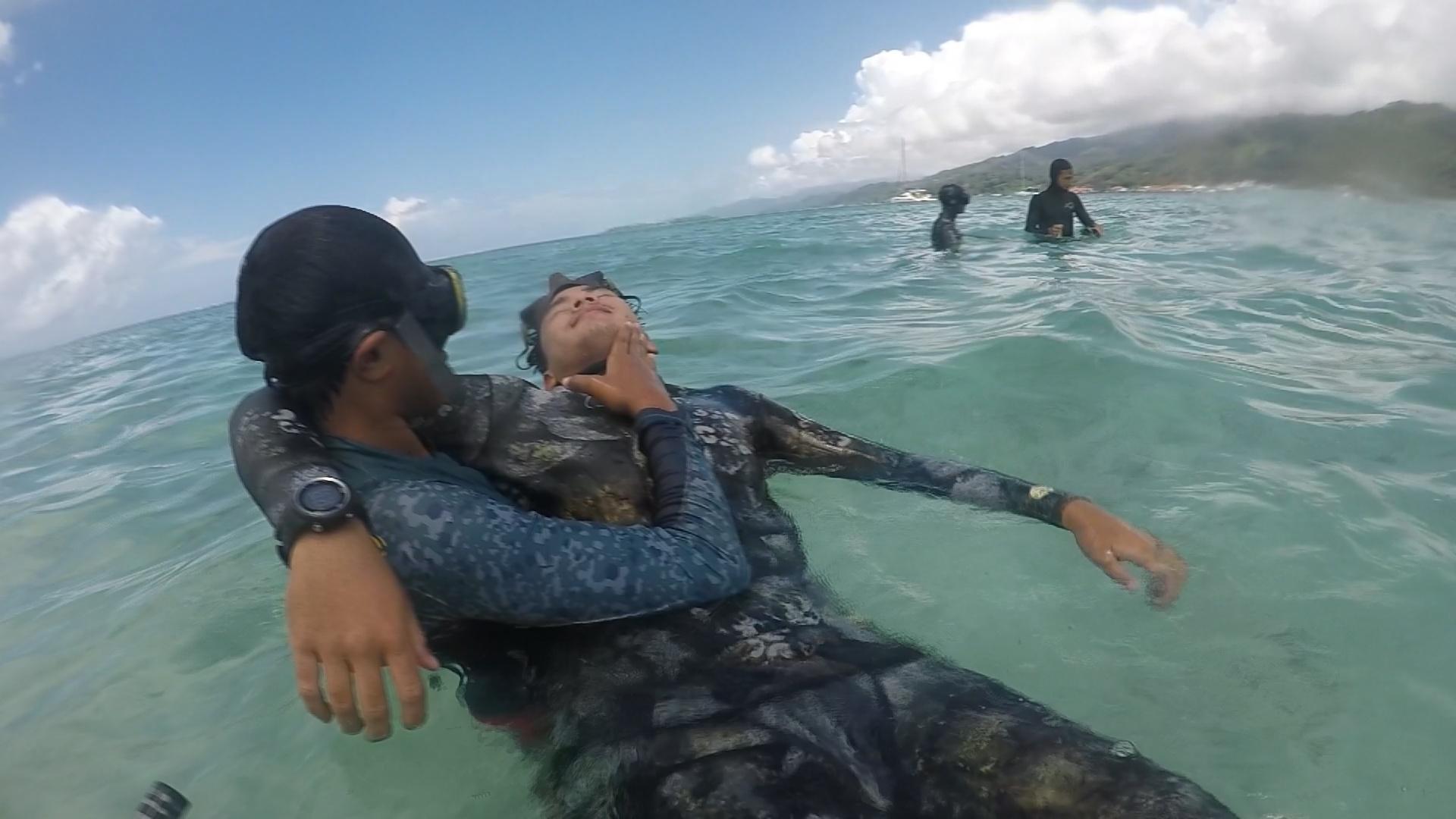 Les chasseurs sous-marins en stage