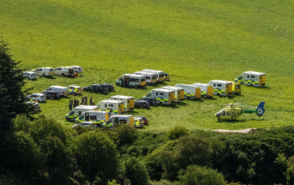 Un train déraille dans le nord-est de l'Ecosse, des blessés graves