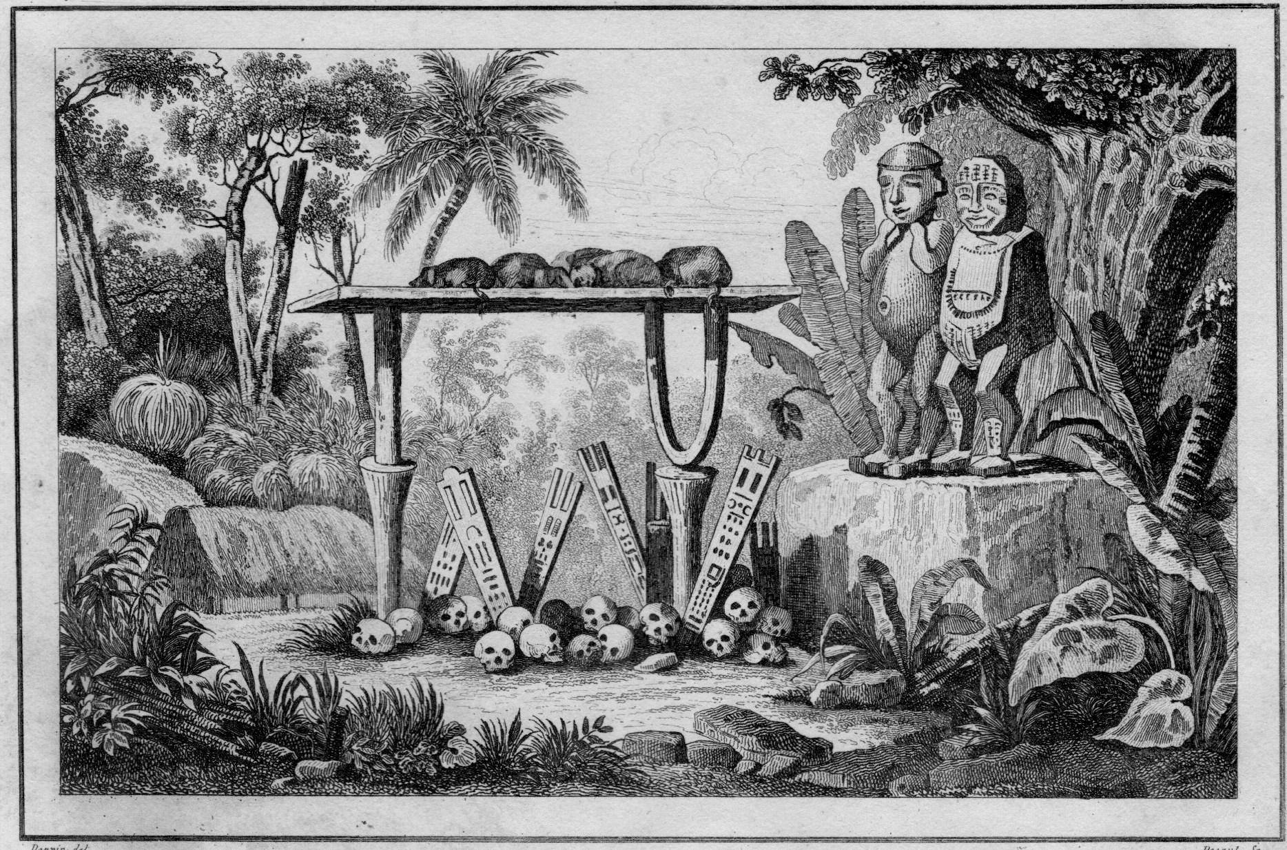 En Polynésie, la pratique des sacrifices humains était très répandue, mais très souvent les premiers explorateurs firent un amalgame et une confusion entre certains rites certes cruels et le cannibalisme.