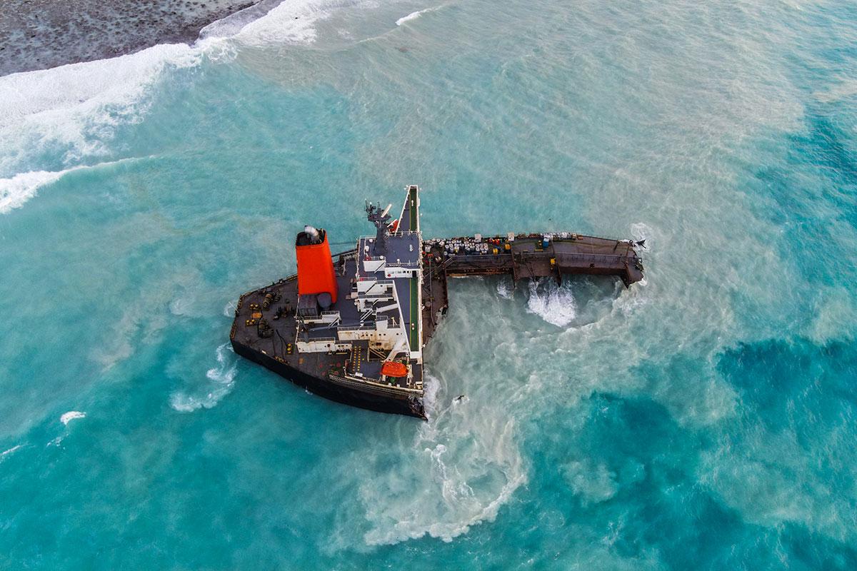 Maurice: la majeure partie de l'épave ayant provoqué une marée noire a été coulée au large