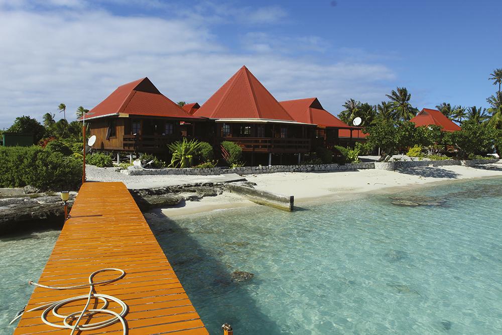 Cet hébergement est le seul qu'offre aujourd'hui l'atoll et c'est bien dommage tant l'île présente d'attraits.