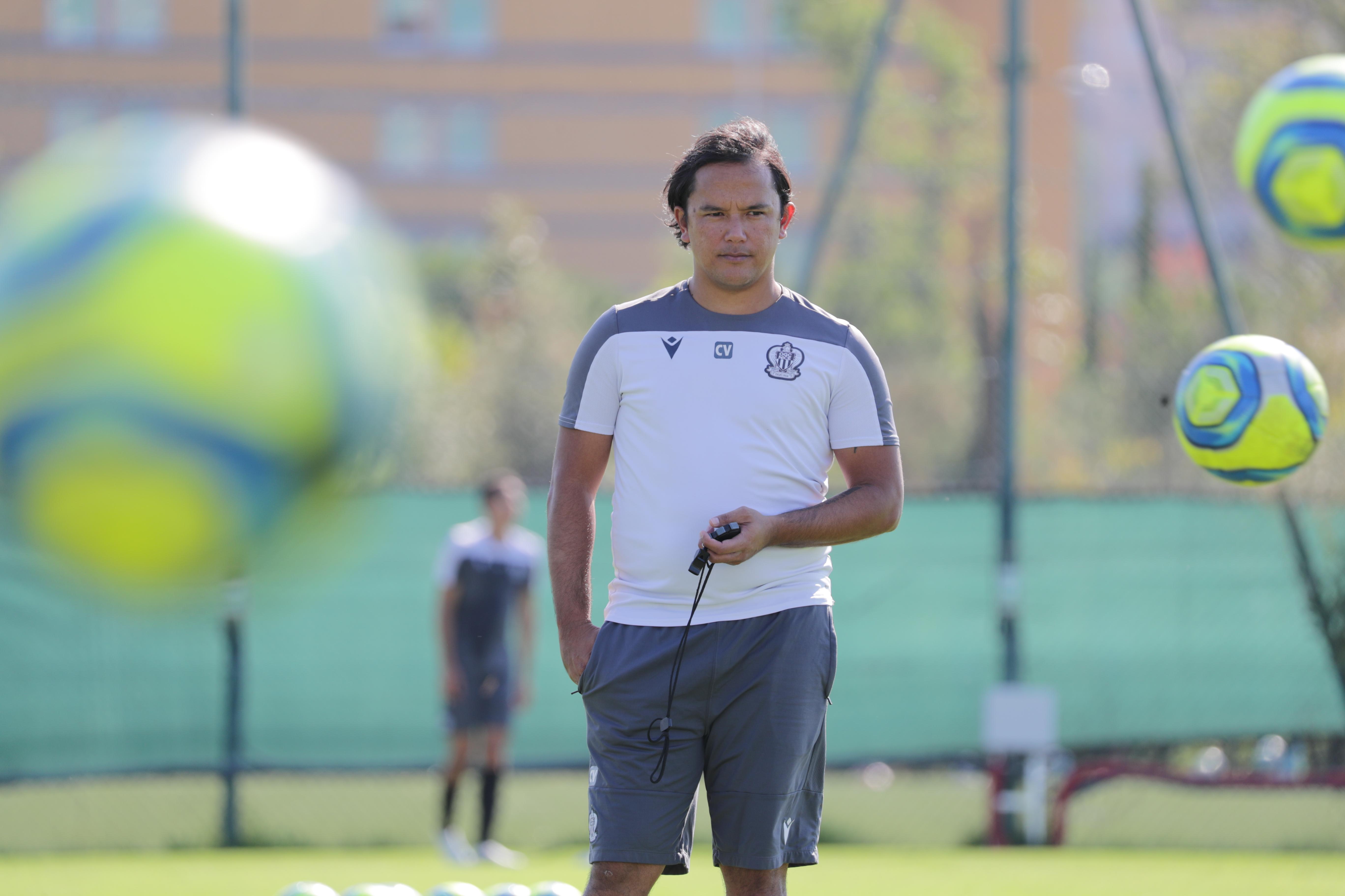 """J'ai un lien particulier avec le Gym, et quand ils m'ont contacté, ça a été une surprise, déjà, mais surtout que du bonheur"""", indique Marama Vahirua qui a disputé 111 matchs avec l'OGC Nice. (Photo : OGC Nice)"""