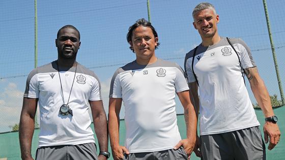 L'attaquant tahitien a retrouvé à Nice ses anciens coéquipiers Emerse Faé et Cédric Varrault. (Photo : OGC Nice)