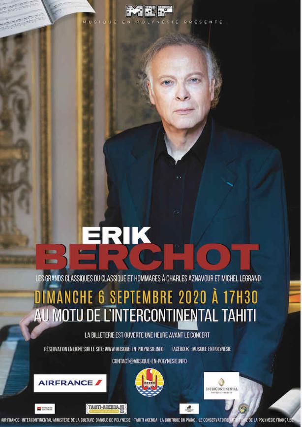 """Erik Berchot, au piano, veut """"faire plaisir"""" à son public"""