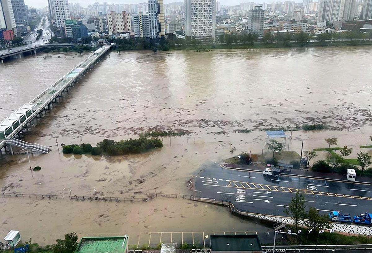 Le typhon Haishen fait rage en Corée du Sud après avoir sévi au Japon