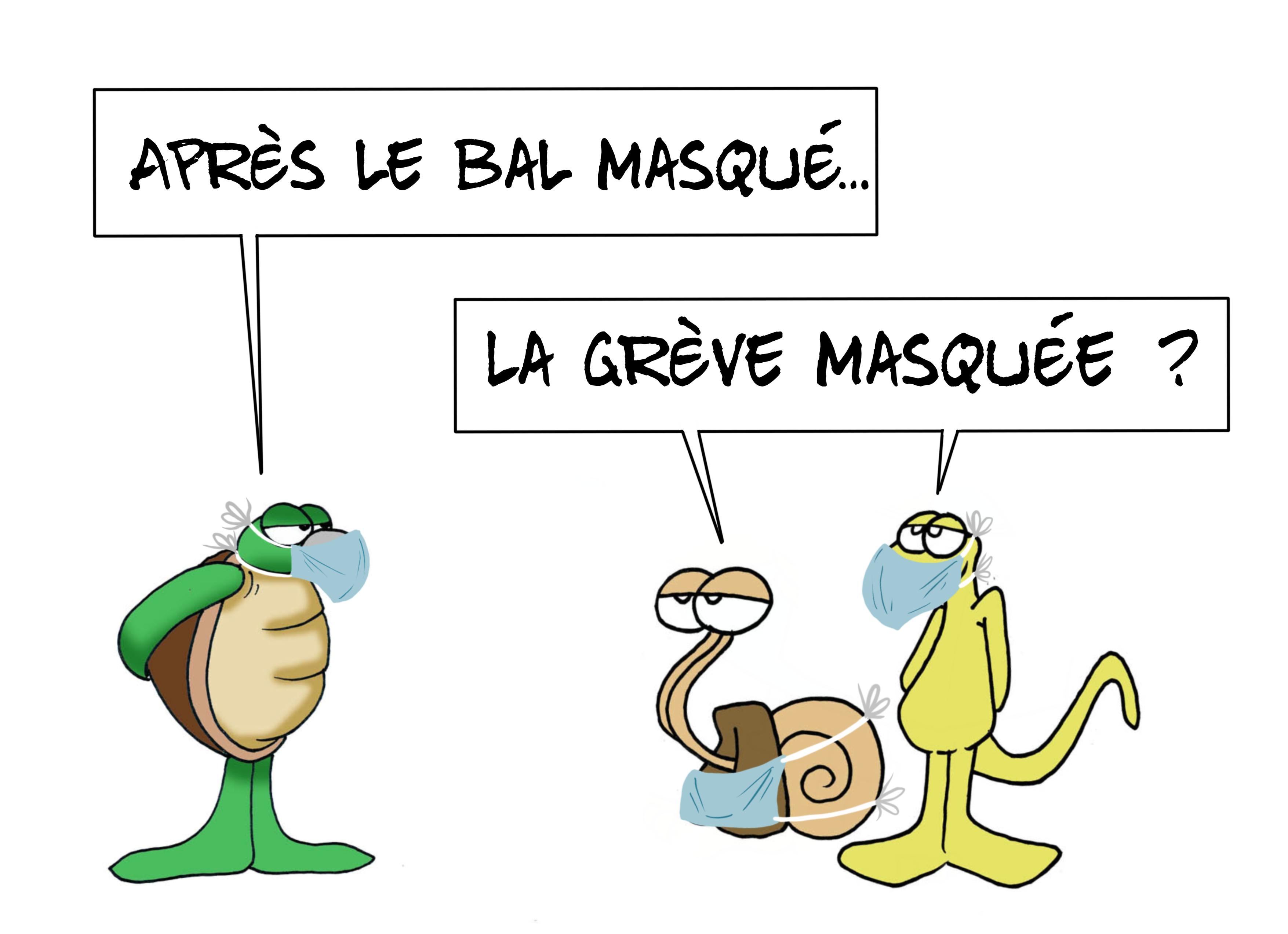 """""""Toujours le masque"""", par Munoz"""