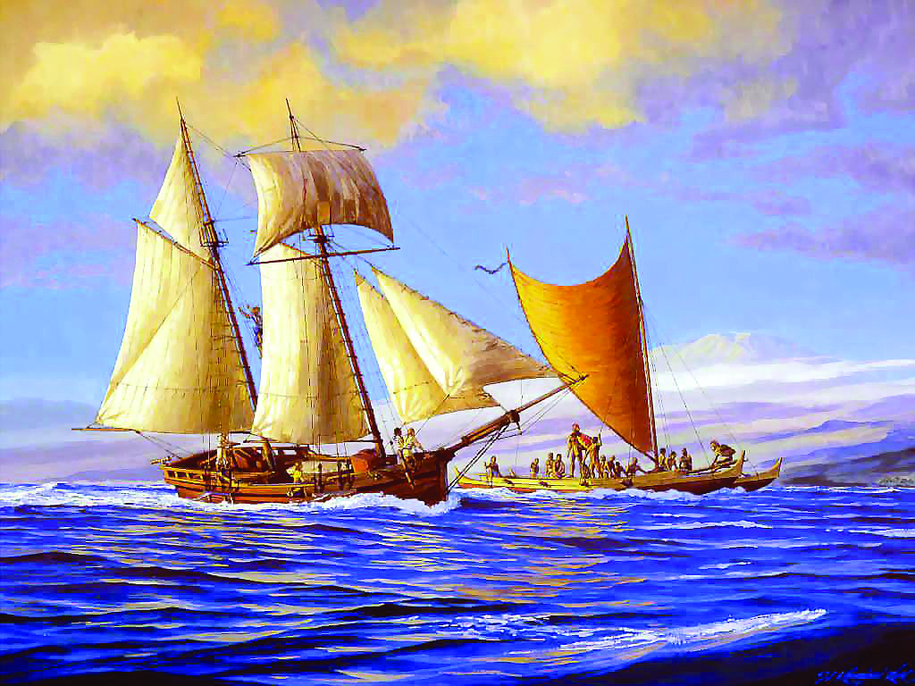 Le célèbre peintre hawaiien Herb Kane a ainsi imaginé l'attaque du Fair American ; tout l'équipage fut massacré à l'exception du jeune Isaac Davis, futur bras droit de Kamehameha.