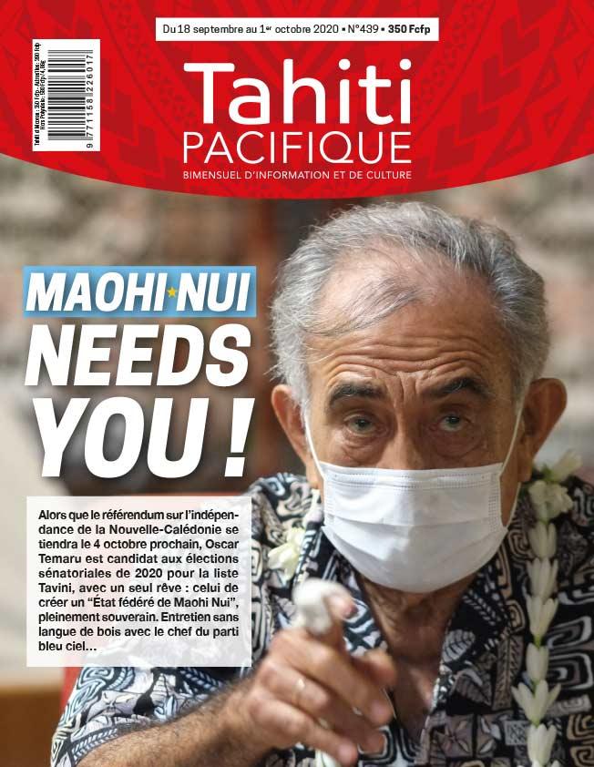 À la UNE de Tahiti Pacifique vendredi 18 septembre 2020