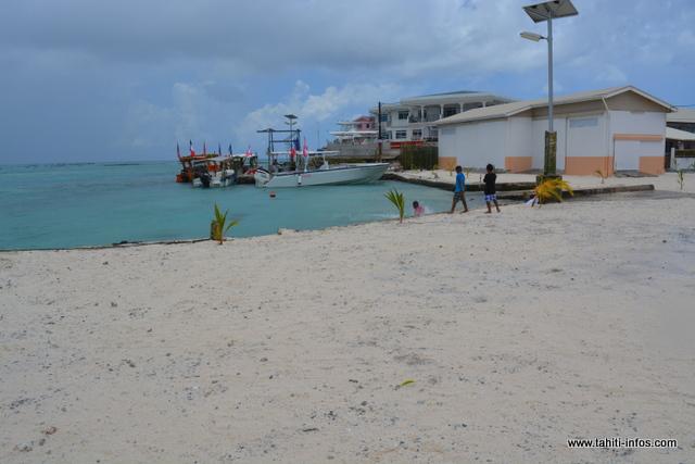 L'atoll de Arutua aux Tuamotu.