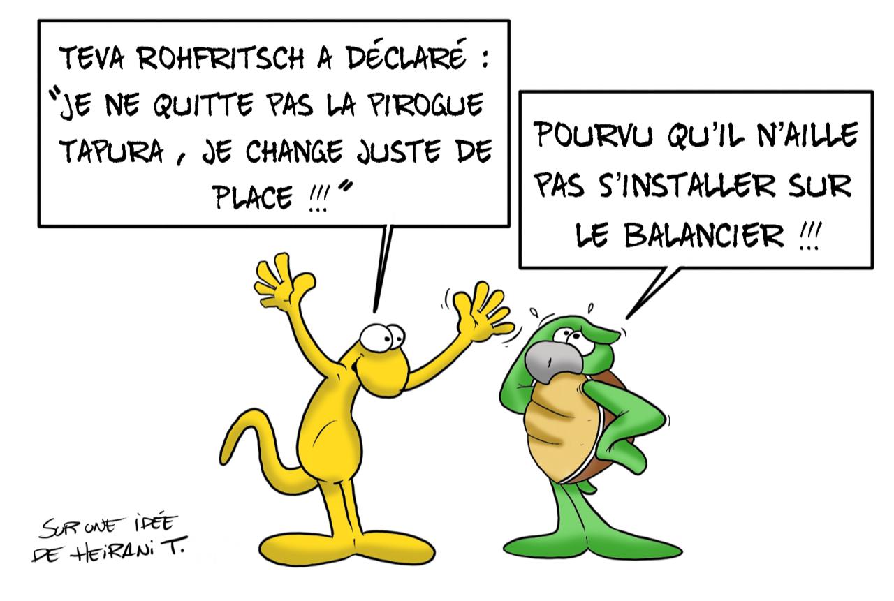 """""""Le tour de la pirogue"""", par Munoz"""