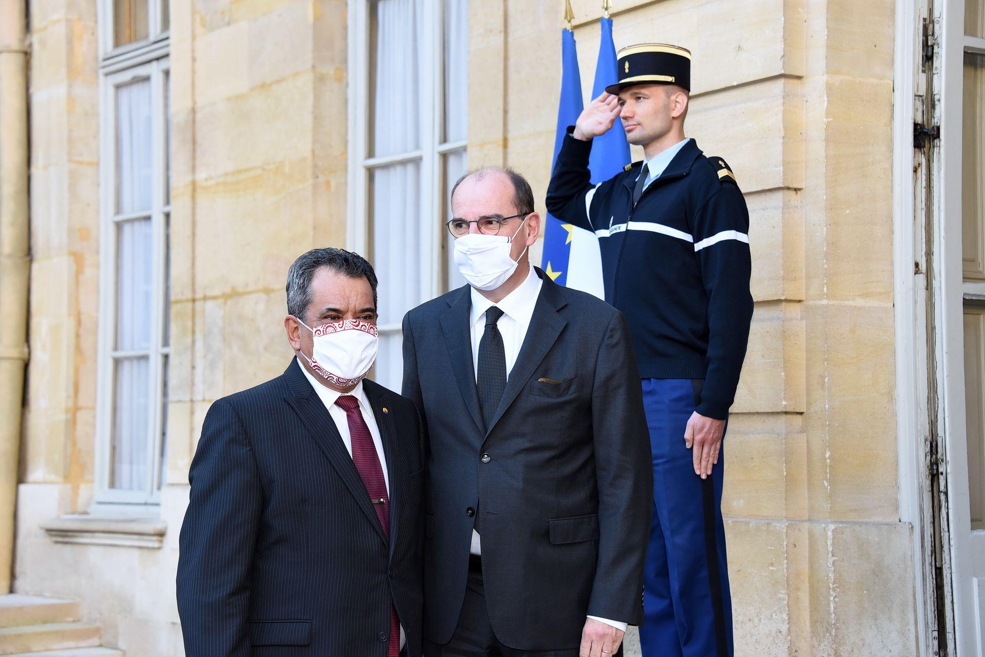 Édouard Fritch reçu par le premier ministre à Paris