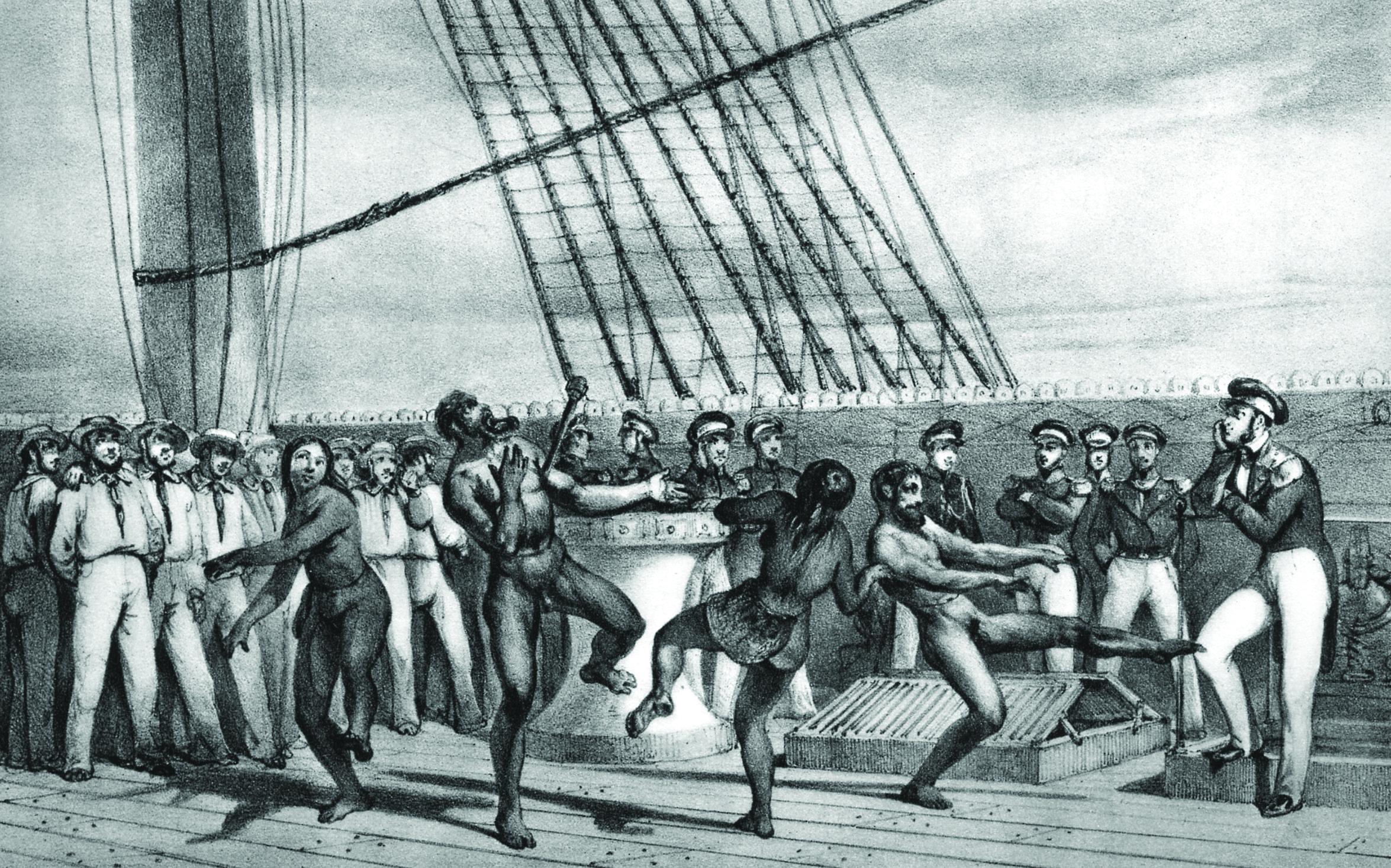 Moyennant de la verroterie et –souvent– de l'alcool, les populations des îles polynésiennes se montraient