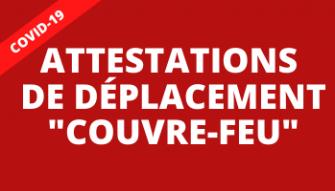 Couvre-feu : Téléchargez les attestations de déplacement