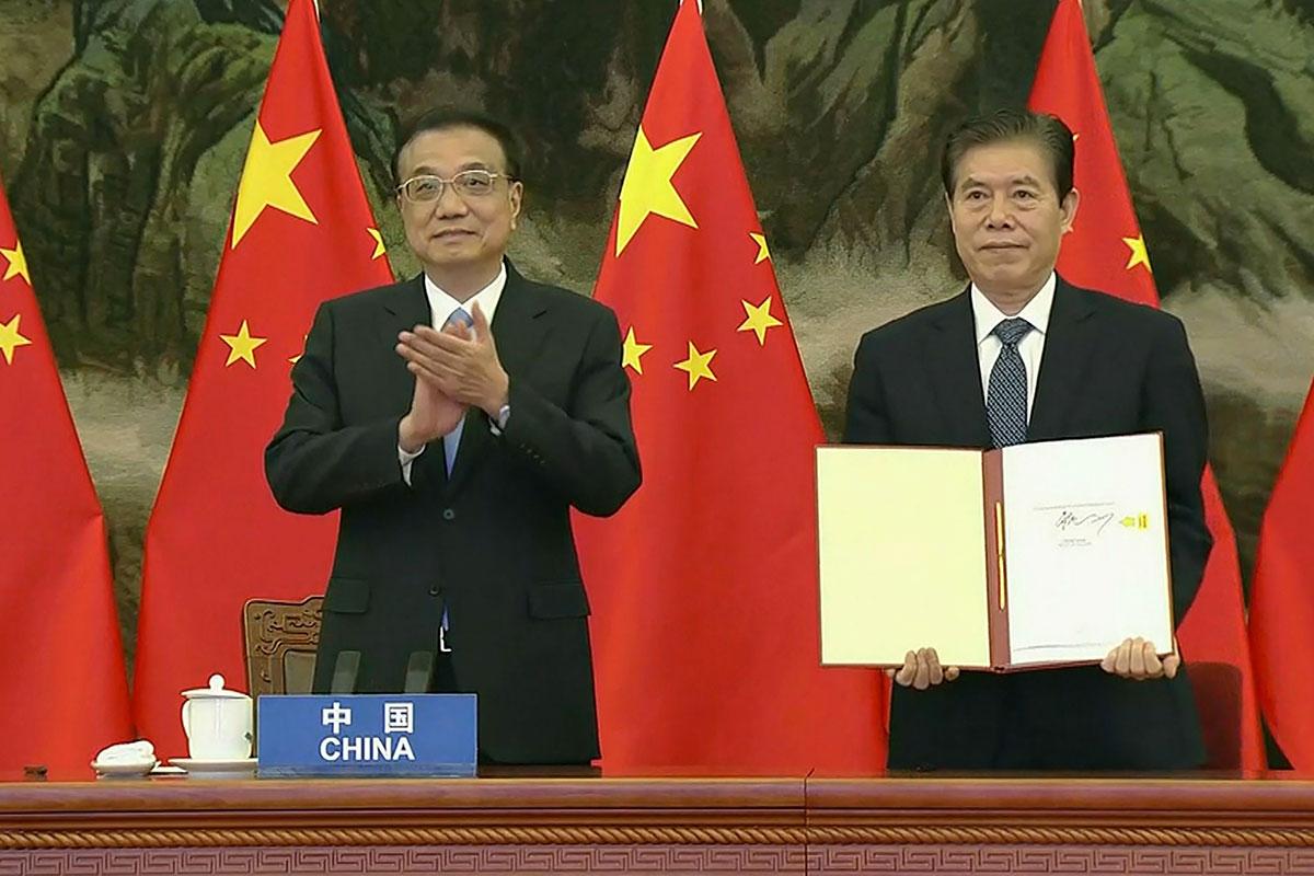 La Chine se renforce avec la signature du plus vaste accord de libre-échange au monde