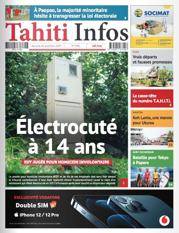 TAHITI INFOS N°1785 du 25 novembre 2020