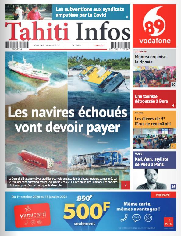 TAHITI INFOS N°1784 du 24 novembre 2020