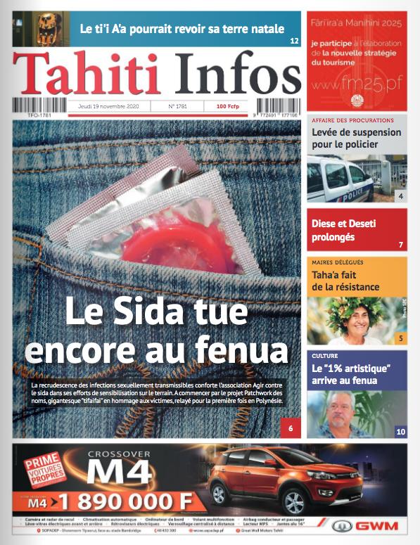 TAHITI INFOS N°1781 du 19 novembre 2020