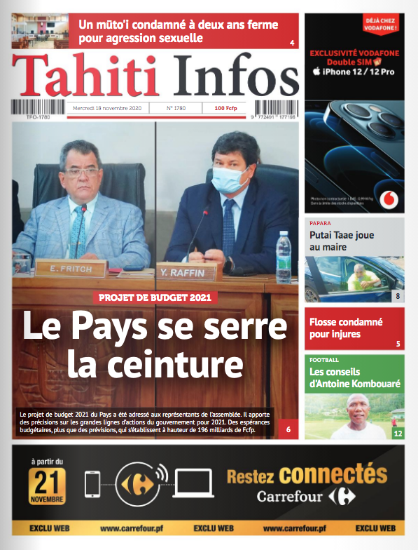 TAHITI INFOS N°1780 du 18 novembre 2020