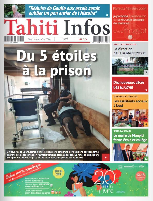 TAHITI INFOS N°1775 du 10 novembre 2020