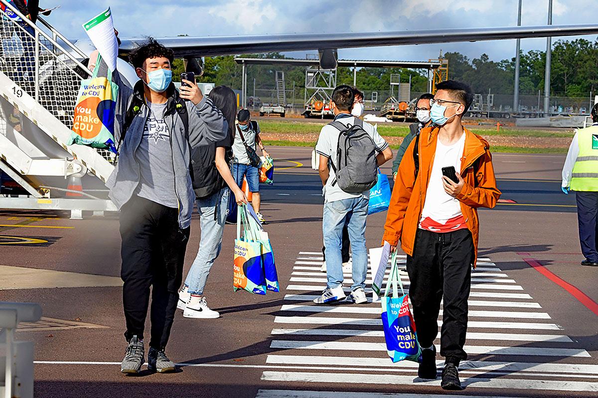 Coronavirus: première arrivée d'étudiants étrangers en Australie
