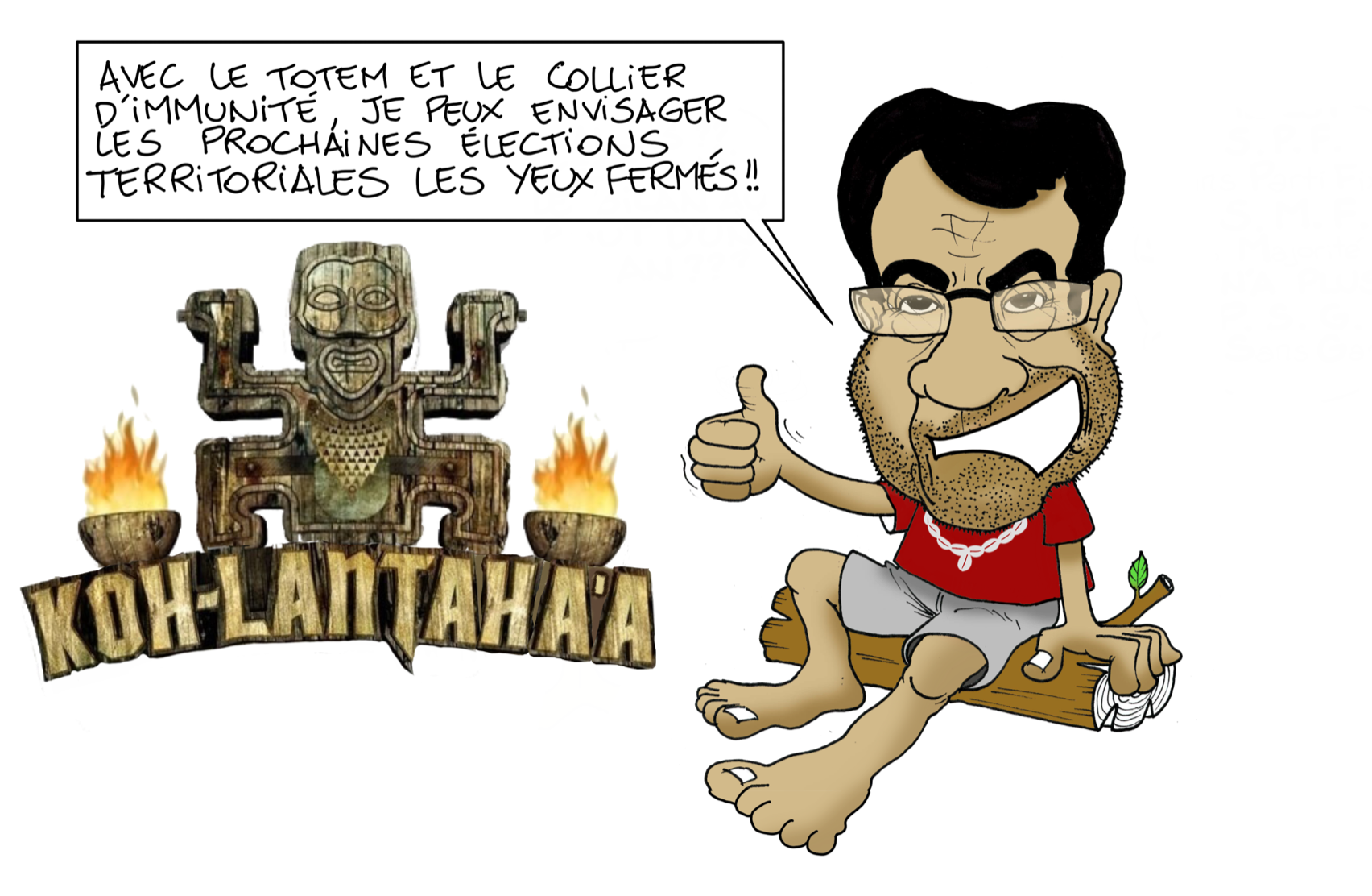 """Fritch à Koh-Lanta"", par Munoz"