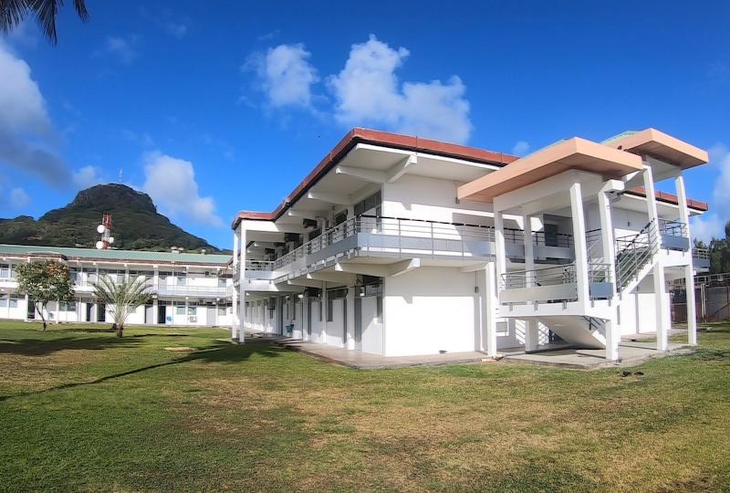 L'hôpital de Raiatea.