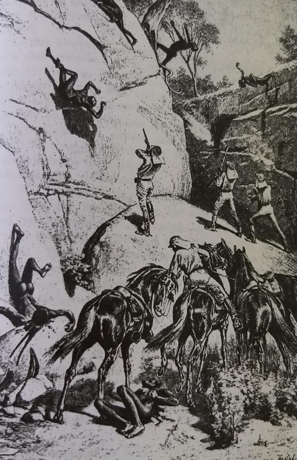 """Les """"dispersions"""" de clans aborigènes relevaient plus de la partie de chasse et même de la séance de tirs que d'une tentative honnête de régler des problèmes entre indigènes et colons."""