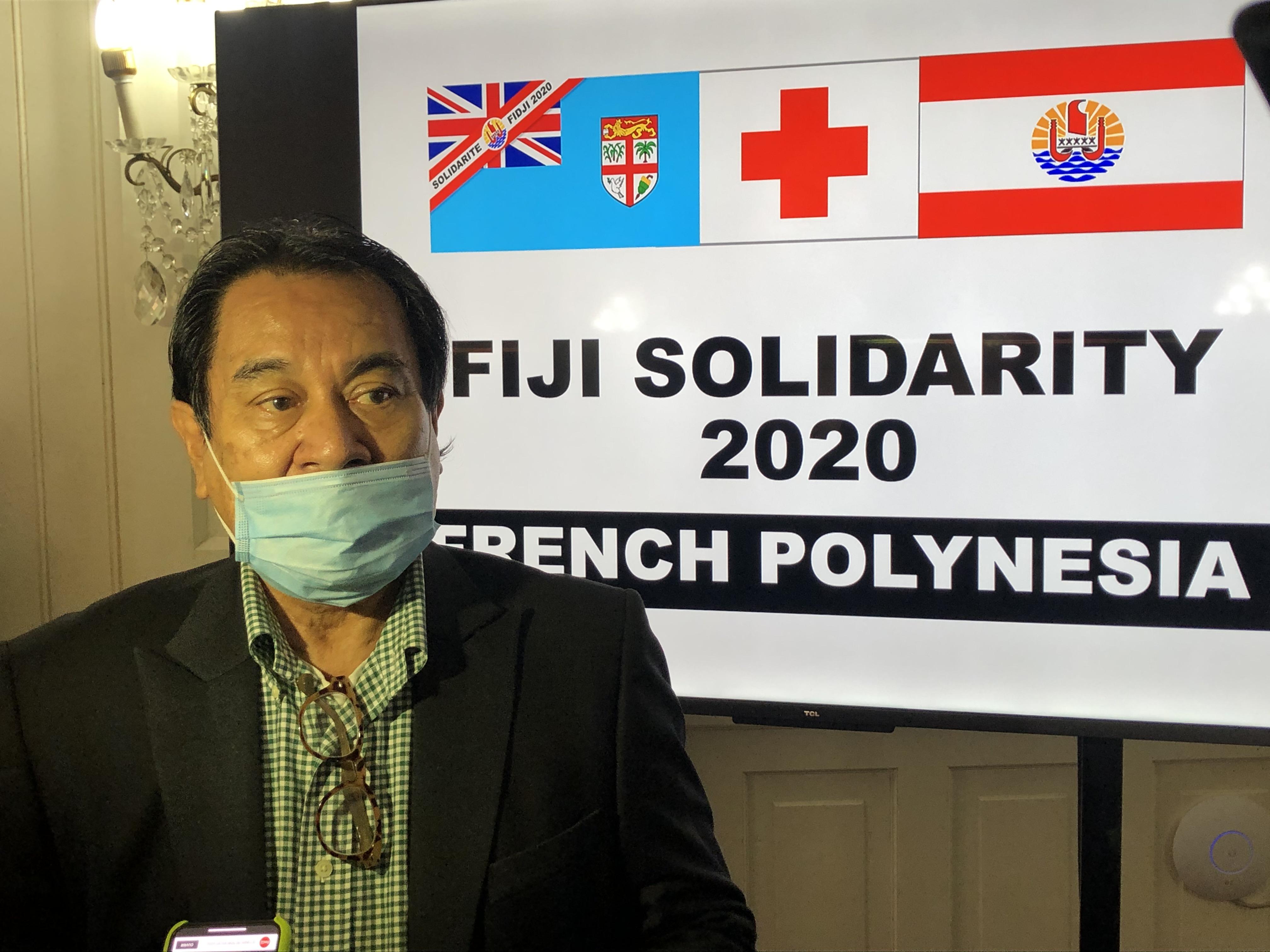 """""""Il y a eu un sursaut de solidarité énorme"""", a déclaré Manuel Terai, délégué aux affaires internationales, européennes et du Pacifique."""