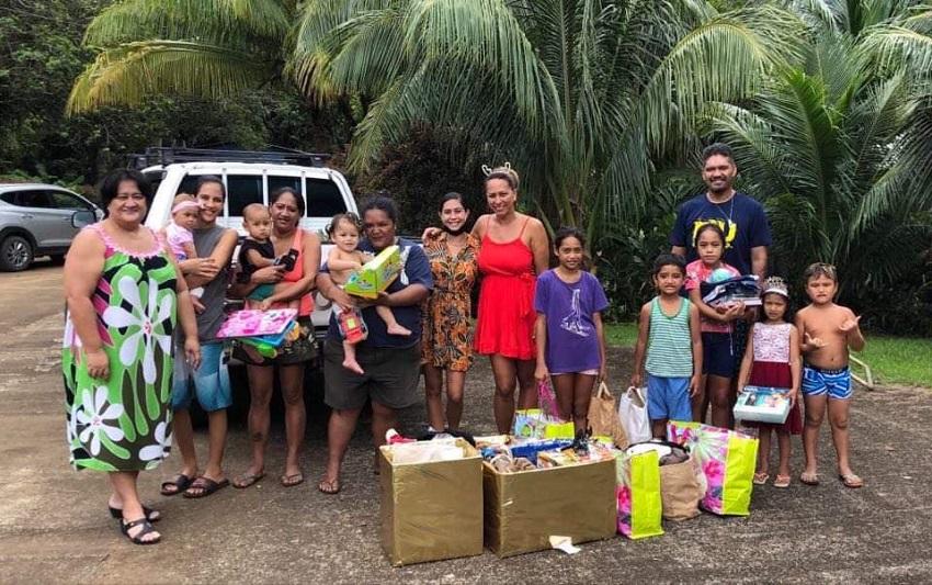Des dons bienvenus pour Noël à Raiatea
