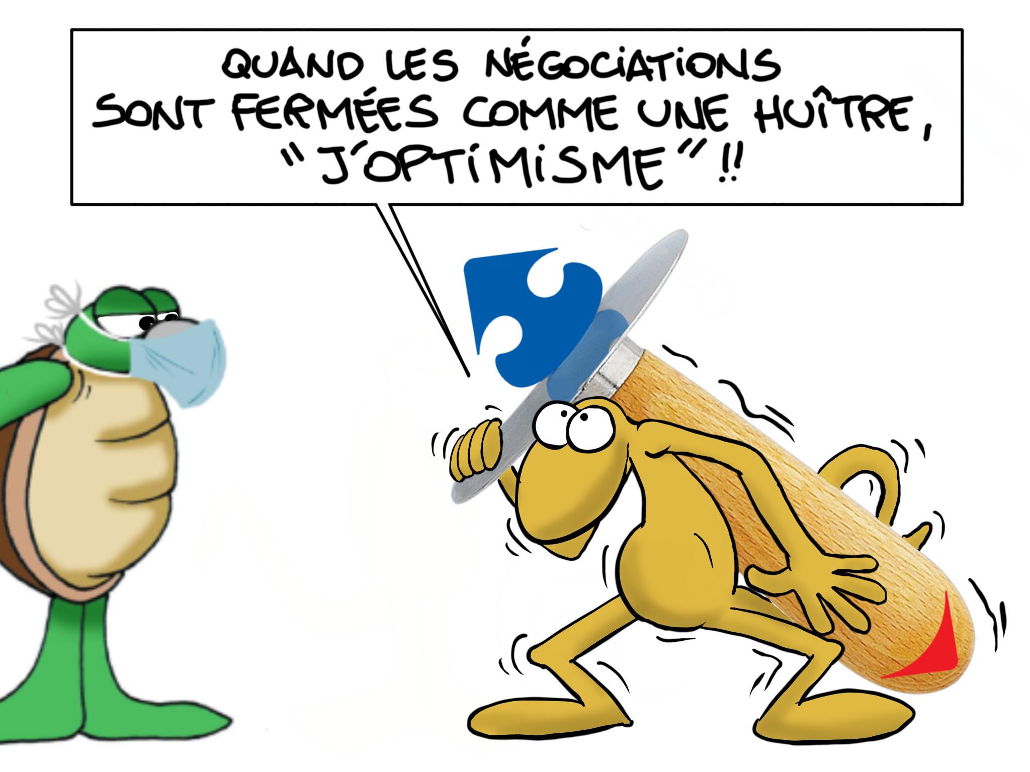 """""""Carrefour j'optimisme"""", par Munoz"""