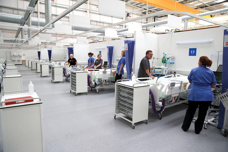 Covid-19: l'hôpital de campagne géant de Londres réactivé
