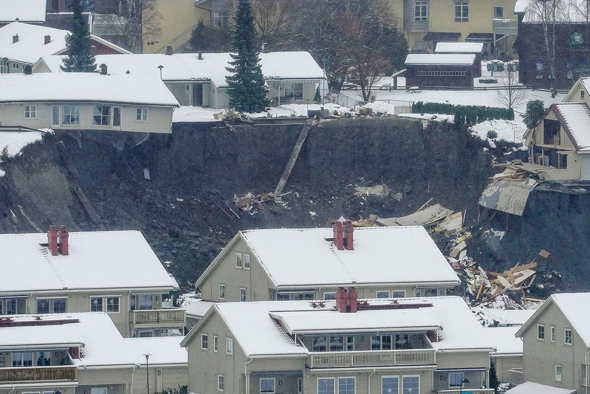 Norvège: après un glissement de terrain, recherches pour 10 disparus