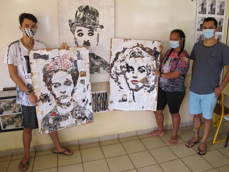 Portraits d'artistes au collège de Nuku Hiva