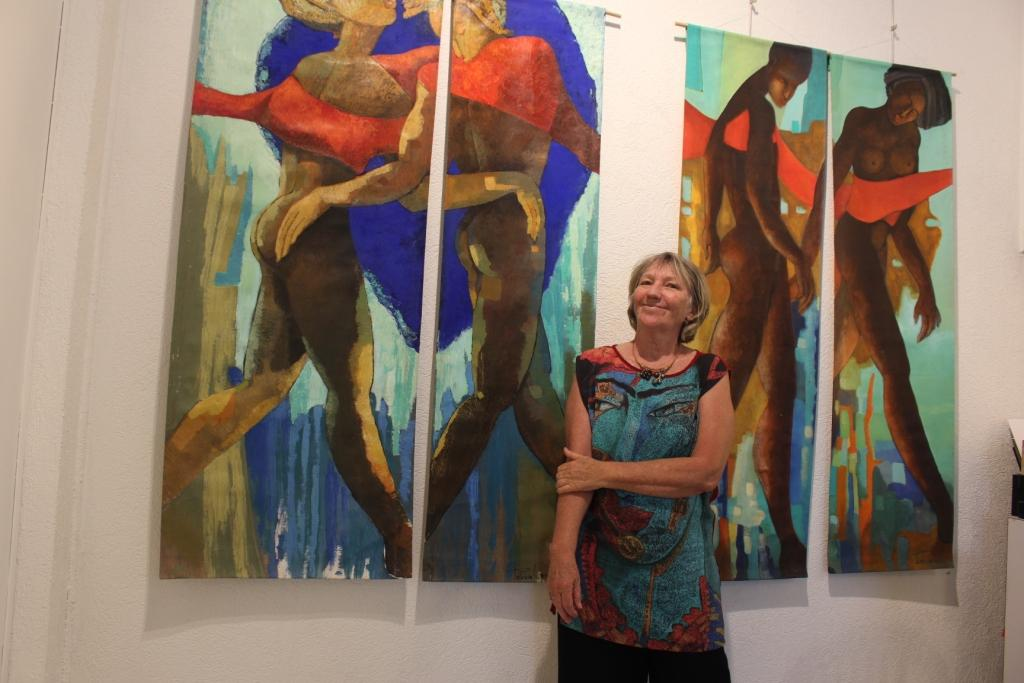 Laques, noren et peintures à la galerie Winkler