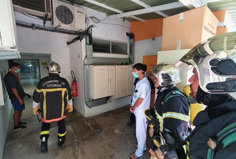 Le scanner de l'hôpital de Uturoa prend feu