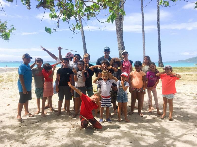 Un stage de natation, de va'a et de secourisme organisé à Moorea
